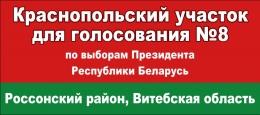 Купить Баннер для голосования в национальных цветах 900*400мм в Беларуси от 15.00 BYN