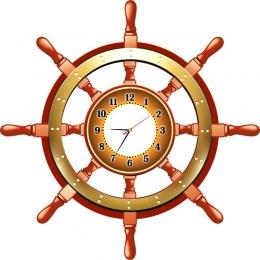 Купить Часы Фигурные Штурвал, размер 900*900 мм в Беларуси от 98.00 BYN