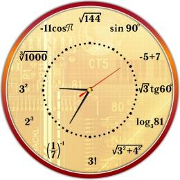 Купить Часы настенные для кабинета математики 390*390 мм в Беларуси от 20.50 BYN
