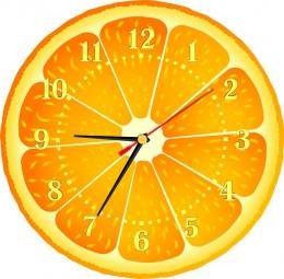Купить Часы настенные кварцевые Апельсинка 270*270 мм в Беларуси от 16.50 BYN
