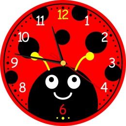 Купить Часы настенные кварцевые Божья коровка 250*250 мм в Беларуси от 15.50 BYN