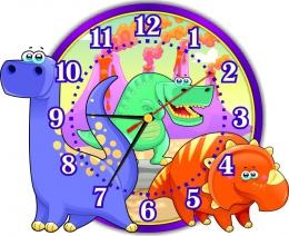 Купить Часы настенные кварцевые Динозаврики 310*250мм в Беларуси от 16.50 BYN