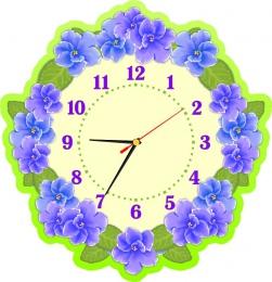 Купить Часы настенные кварцевые для группы Фиалка 390*400 мм в Беларуси от 20.50 BYN