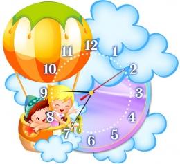Купить Часы настенные кварцевые для группы Почемучки 370*340 мм в Беларуси от 17.50 BYN