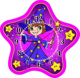 Купить Часы настенные кварцевые для группы Волшебники 340*330 мм в Беларуси от 17.50 BYN