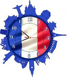 Купить Часы настенные кварцевые для кабинета французского языка 420*480 мм в Беларуси от 23.50 BYN