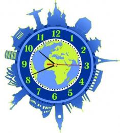 Купить Часы настенные кварцевые Достопримечательности мира 350*360 мм в Беларуси от 17.50 BYN