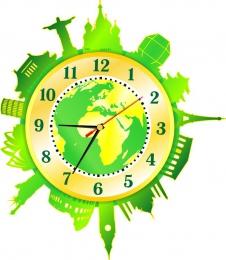 Купить Часы настенные кварцевые Достопримечательности мира 360*410 мм в Беларуси от 19.50 BYN