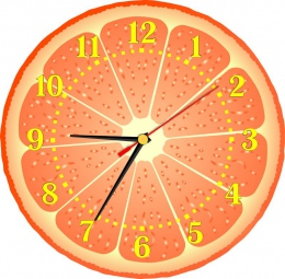 Купить Часы настенные кварцевые Грейфрут 250*250 мм в Беларуси от 15.50 BYN