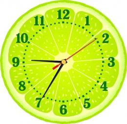 Купить Часы настенные кварцевые Лайм 250*250 мм в Беларуси от 15.50 BYN