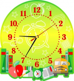Купить Часы настенные кварцевые на школьную тематику 270*300 мм в Беларуси от 16.50 BYN