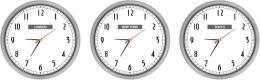 Купить Часы настенные кварцевые Нью-Йорк, Лондон, Токио 3 шт. 360*360 мм в Беларуси от 60.50 BYN