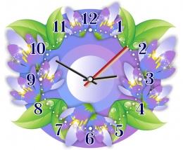 Купить Часы настенные кварцевые Подснежники 280*240 мм в Беларуси от 16.50 BYN
