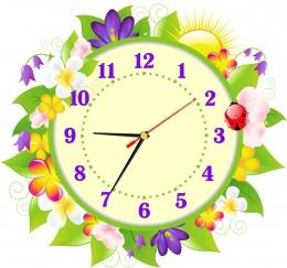 Купить Часы настенные кварцевые с цветами  370*350 мм в Беларуси от 17.50 BYN