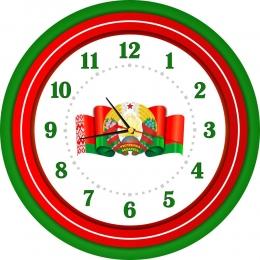 Купить Часы настенные кварцевые с символикой Республики Беларусь 420*420мм в Беларуси от 21.50 BYN
