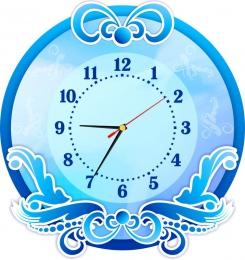Купить Часы настенные кварцевые в голубых тонах 380*400 мм в Беларуси от 20.50 BYN