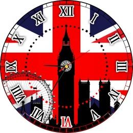 Купить Часы настенные кварцевые в кабинет английского языка 400*400 мм в Беларуси от 21.50 BYN