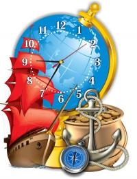 Купить Часы настенные кварцевые в кабинет географии 370*480мм. в Беларуси от 22.50 BYN