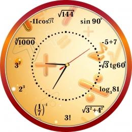 Купить Часы настенные кварцевые в кабинет математики с формулами 390*390 мм в Беларуси от 20.50 BYN