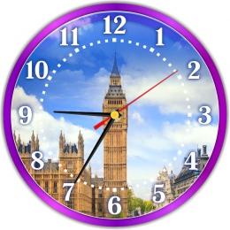 Купить Часы настенные кварцевые в стиле Биг-Бен  250*250 мм в Беларуси от 14.50 BYN