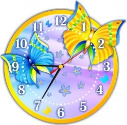 Купить Часы настенные кварцевые в стиле группы Бабочка 270*270 мм в Беларуси от 18.00 BYN