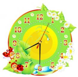 Купить Часы настенные кварцевые в стиле группы Божья коровка 300*300 мм в Беларуси от 15.50 BYN