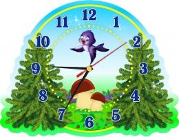 Купить Часы настенные кварцевые в стиле группы Елочка 320*250 мм в Беларуси от 15.50 BYN