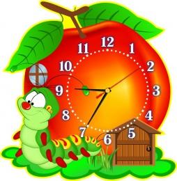 Купить Часы настенные кварцевые в стиле группы Гусеничка 350*360 мм в Беларуси от 17.50 BYN