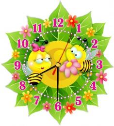 Купить Часы настенные кварцевые в стиле группы Пчёлка 270*300 мм в Беларуси от 16.50 BYN