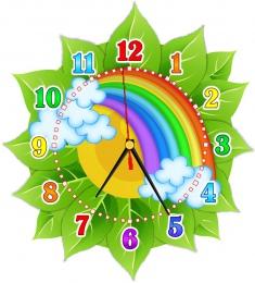 Купить Часы настенные кварцевые в стиле группы Радуга 270*300мм в Беларуси от 16.50 BYN