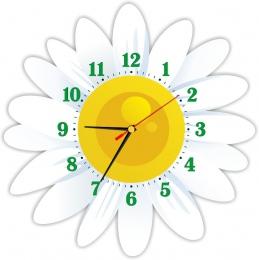 Купить Часы настенные кварцевые в стиле группы Ромашка 370*370 мм в Беларуси от 17.50 BYN
