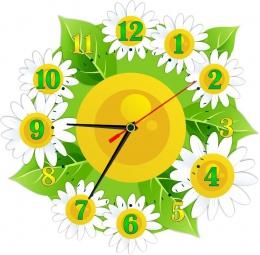 Купить Часы настенные кварцевые в стиле группы Ромашка и Цветочек 270*270 мм в Беларуси от 15.50 BYN