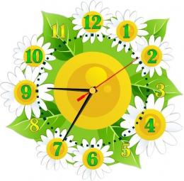 Купить Часы настенные кварцевые в стиле группы Ромашка и Цветочек 360*350 мм в Беларуси от 17.50 BYN