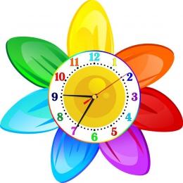 Купить Часы настенные кварцевые в стиле группы Семицветик 350*350 мм в Беларуси от 17.50 BYN