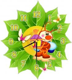 Купить Часы настенные кварцевые в стиле группы Светлячки 270*300 мм в Беларуси от 16.50 BYN