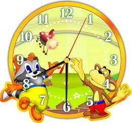 Купить Часы настенные кварцевые в стиле группы Улыбка 270*250мм в Беларуси от 15.50 BYN