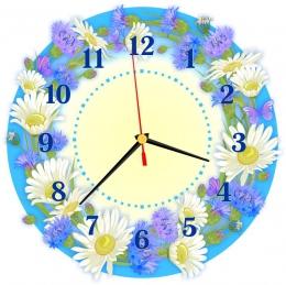 Купить Часы настенные кварцевые в стиле группы Василёк 270*270 мм в Беларуси от 15.50 BYN