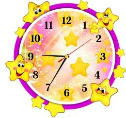 Купить Часы настенные кварцевые в стиле группы Звёздочки 340*320 мм в Беларуси от 17.50 BYN