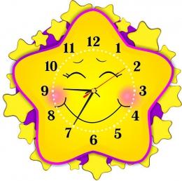 Купить Часы настенные кварцевые в стиле группы Звёздочки 400*400 мм в Беларуси от 20.50 BYN