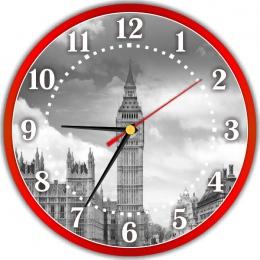 Купить Часы настенные кварцевые в стиле Лондон 250*250 мм в Беларуси от 14.50 BYN