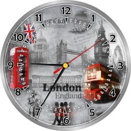 Купить Часы настенные кварцевые в стиле Лондон с достопримечательностями 250*250 мм в Беларуси от 15.50 BYN