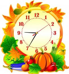 Купить Часы настенные кварцевые в стиле Осень для столовой  370*400 мм в Беларуси от 20.50 BYN