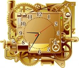 Купить Часы настенные кварцевые в стиле Стимпанк для кабинета физики 410*350 мм в Беларуси от 20.50 BYN