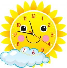 Купить Часы настенные кварцевые в виде Солнышка 400*400 мм в Беларуси от 19.50 BYN