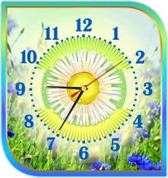 Купить Часы настенные кварцевые в золотисто-бирюзовых тонах 300*320 мм в Беларуси от 18.00 BYN