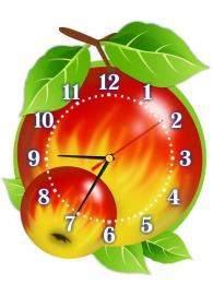Купить Часы настенные кварцевые Яблочки 290*370мм в Беларуси от 17.50 BYN