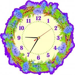 Купить Часы с колосками и васильками 290*290 мм в Беларуси от 17.00 BYN