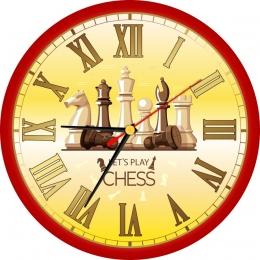 Купить Часы с шахматами 250*250 мм в Беларуси от 15.50 BYN