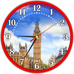 Купить Часы в кабинет английского языка 250*250 мм в Беларуси от 15.50 BYN