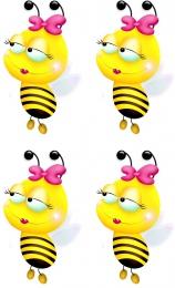 Купить Декоративные наклейки Пчелки 24 шт. размер 58*97 мм в Беларуси от 7.00 BYN